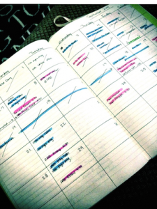 Bullet Journal, Monthly