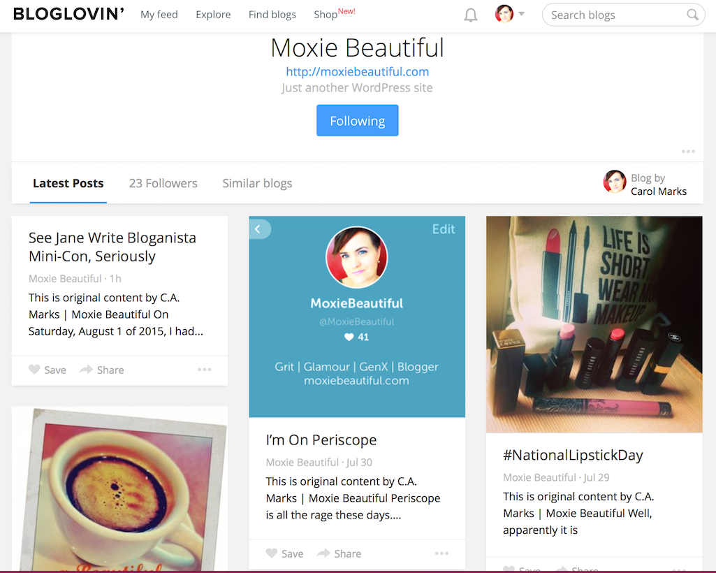 Bloglovin Follow Me