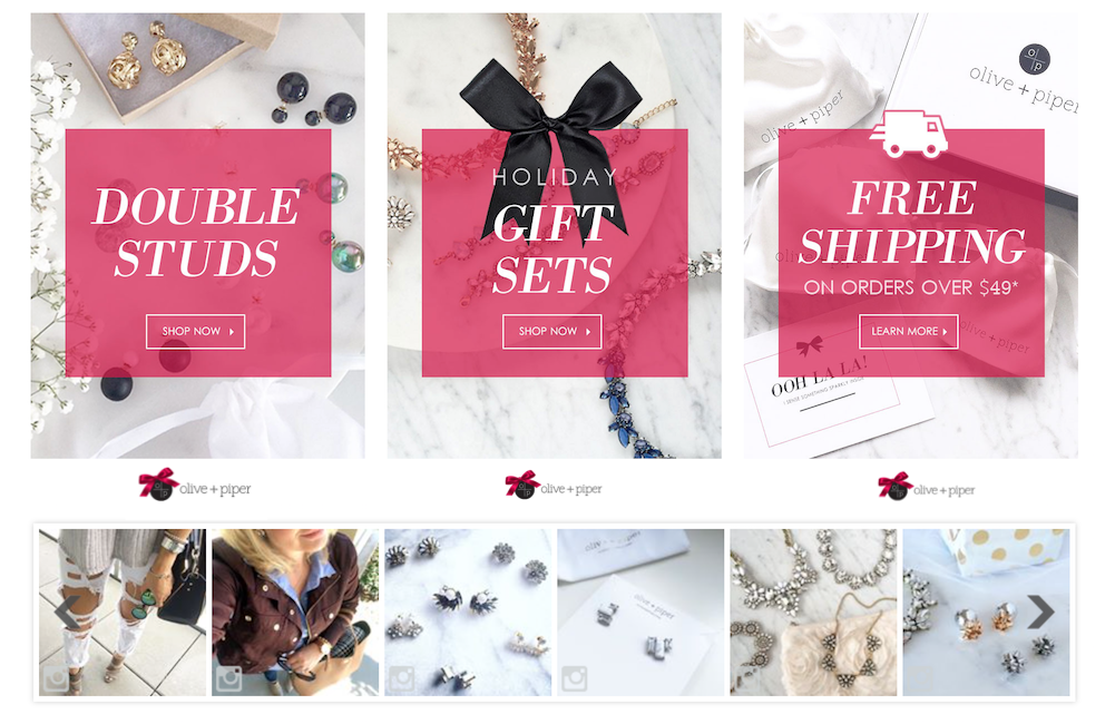 Olive + Piper Fashion Jewelry, Online Boutique
